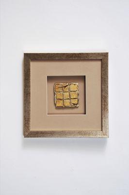 Wandbild GOIA 1, Holz-Glas-Kunststein silber-gold-sand Holländer 306 3152