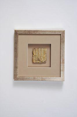 Wandbild GOIA 4, Holz-Glas-Kunststein silber-gold-sand Holländer 306 3155