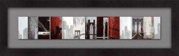 Wandbild QUARTIERE, Holz schwarz-grau-weiss-rot Holländer 306 3176