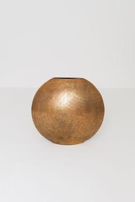 Dekovase Oval POLPETTA GROSS, Aluminium vergoldet gold