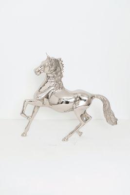 Pferd CAVALLA GRANDE, Aluminium poliert silber