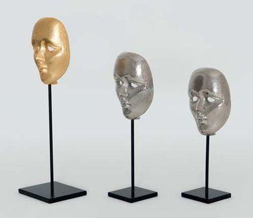 Maske CANDIDATO GRANDE, Aluminium versilbert silber – Bild 2