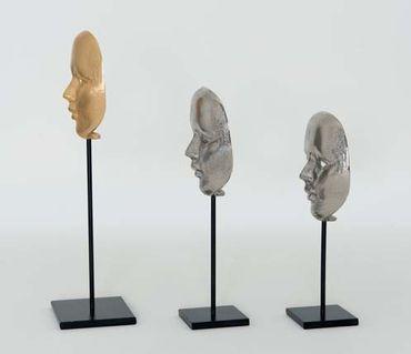 Maske CANDIDATO MEDIUM, Aluminium vergoldet gold – Bild 3