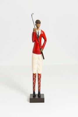 Figur DATORE, Mangoholz rot-weiss-schwarz