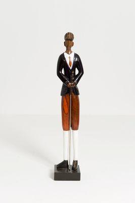 Figur EVIVA, Mangoholz schwarz-rot-weiss