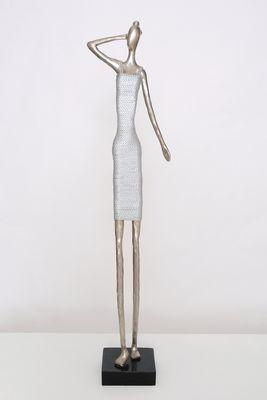 Figur BELLA DONNA, Aluminium silber