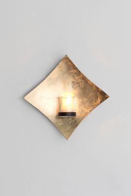 Wandwindlicht 1-flg. SEMPLICE, Eisen blattvergoldet gold