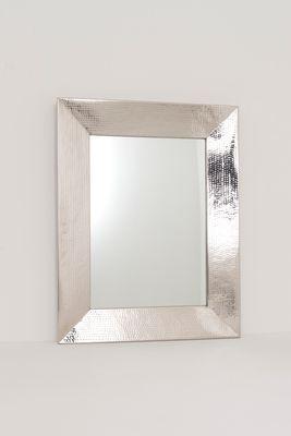 Spiegel LISTINO, Aluminium gehämmert und poliert silber