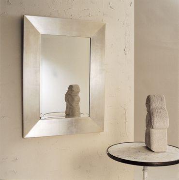 Spiegel CLASSICO MEDIUM, Rahmen Holz MDF blattversilbert