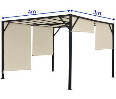 Pergola Garten Pavillon Terrassenüberdachung, 4x3m - 27089 – Bild 7