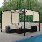 Pergola Garten Pavillon Terrassenüberdachung, 4x3m - 27089