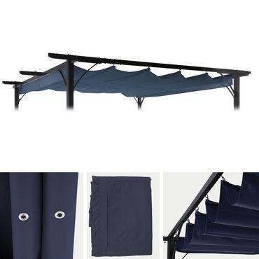 Ersatzdach für Pergola 3,5x3,5m, Schiebedach Bezug, blau - 27102 – Bild 1