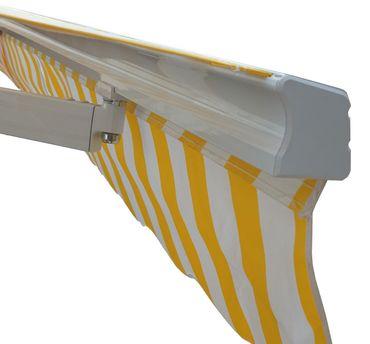 Alu-Markise, Sonnenstoren Gelenkarmmarkise Sonnenschutz 5x3m, Polyester Grau - 27124 – Bild 5
