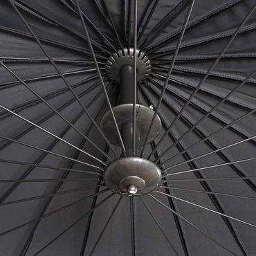 Ampelschirm, Sonnenschirm mit Ständer/Schutzhülle, drehbar rollbar Ø 2,8m Polyester Alu/Stahl 25kg, anthrazit - 27125 – Bild 6