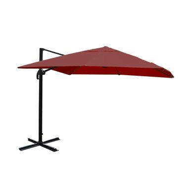 Ampelschirm, Gastronomie Sonnenschirm, 3x3m (Ø4,24m) Polyester/Alu 23kg, bordeaux ohne Ständer – Bild 1