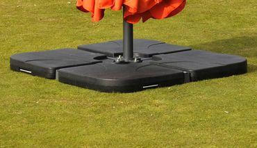 Ampelschirmständer für Bodenkreuz, Sonnenschirmständer Marktschirmständer 65kg – Bild 5