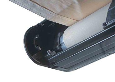 Elektrische Vollkassetten-Markise, 4,5x3m ausfahrbarer Volant, Polyester Creme, anthrazit – Bild 7