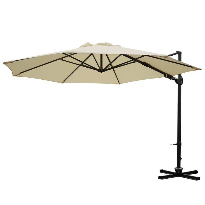gastronomie ampelschirm sonnenschirm schwenkbar drehbar 3 5m polyester alu 34kg creme ohne. Black Bedroom Furniture Sets. Home Design Ideas
