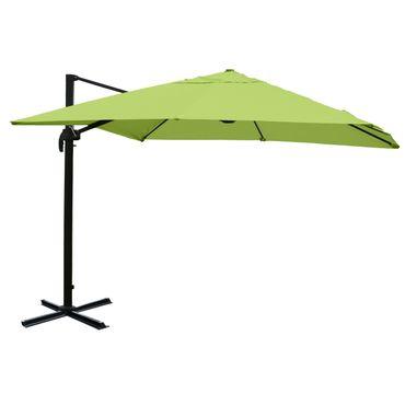 Gastronomie-Ampelschirm, 3x3m (Ø4,24m) Polyester Alu/Stahl 23kg, grün ohne Ständer – Bild 1