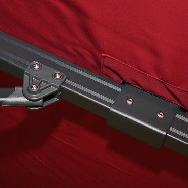 Gastronomie-Ampelschirm, 3x4m (Ø5m) Polyester Alu/Stahl 26kg, bordeaux mit Ständer, drehbar - 27238 – Bild 4