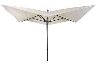 Luxus-Sonnenschirm, Marktschirm Gartenschirm, 3x3m (Ø4,24m) Polyester/Alu 10kg, creme ohne Ständer – Bild 3