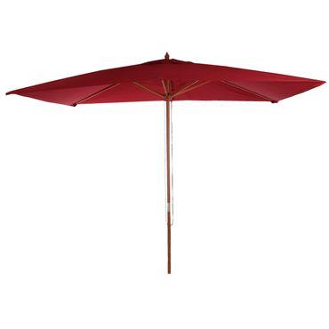 Sonnenschirm, Gartenschirm Marktschirm, 2x3m Polyester/Holz 6kg, bordeaux – Bild 1