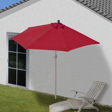 Sonnenschirm halbrund, Halbschirm Balkonschirm, UV 50+ Polyester/Alu 3kg, 300cm bordeaux ohne Ständer - 27322 – Bild 2
