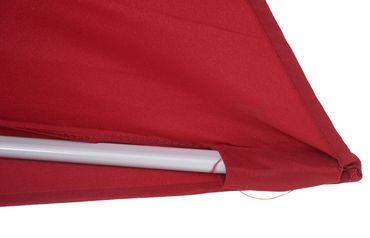 Sonnenschirm halbrund, Halbschirm Balkonschirm, UV 50+ Polyester/Alu 3kg, 300cm bordeaux ohne Ständer – Bild 7