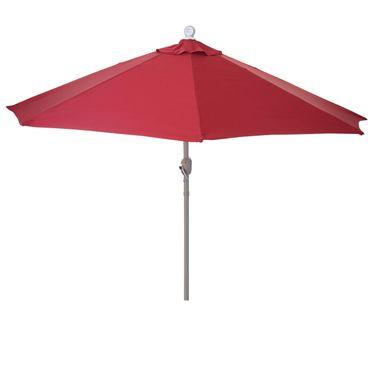 Sonnenschirm halbrund, Halbschirm Balkonschirm, UV 50+ Polyester/Alu 3kg, 300cm bordeaux ohne Ständer - 27322 – Bild 1