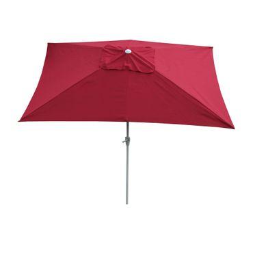 Sonnenschirm, Gartenschirm, 2x3m rechteckig neigbar, Polyester/Alu 4,5kg, bordeaux – Bild 1