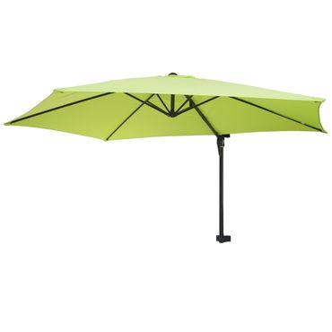 Wandschirm, Ampelschirm Balkonschirm Sonnenschirm, 3m neigbar, Polyester Alu/Stahl 9kg, grün-lemon – Bild 1