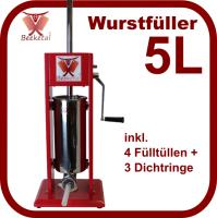 Wurstfüller MT05 5L Metallgetriebe
