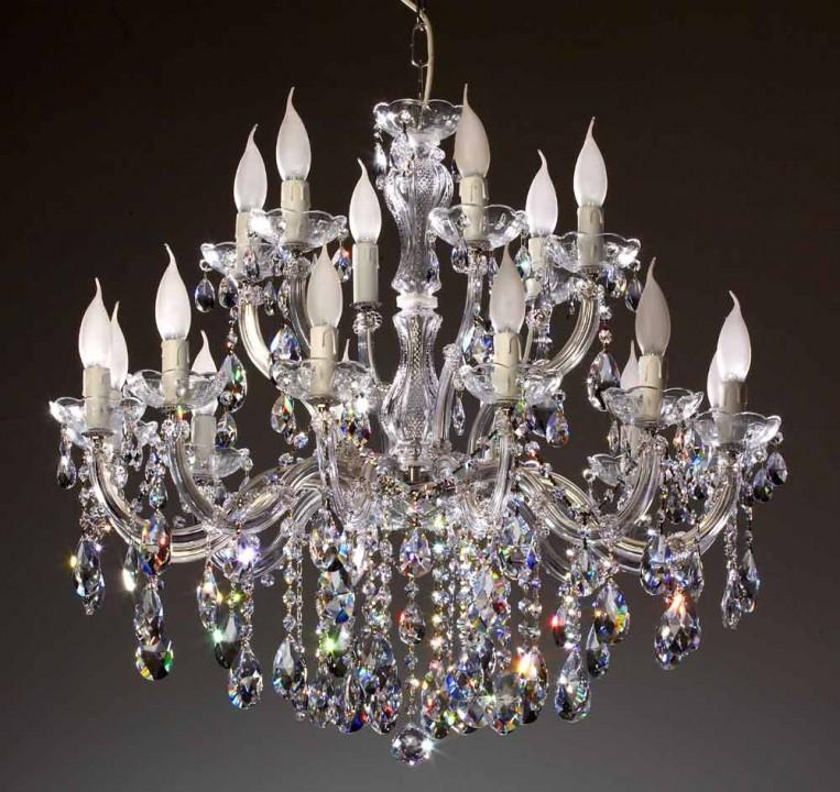 Attractive 18 Arm Kronleuchter Gefertigt Mit SPECTRA® Crystal Von SWAROVSKI, Goldfarbig Design