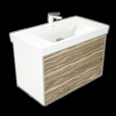 WOODEN SPLASH Waschbecken, Badezimmerschrank – Bild 4