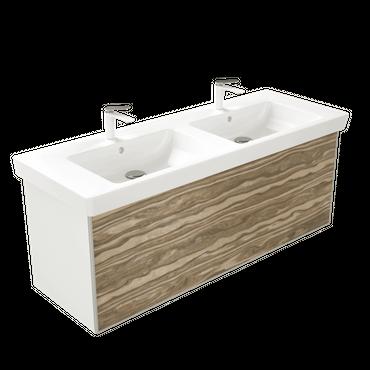 WOODEN SPLASH Waschbecken, Badezimmerschrank – Bild 6