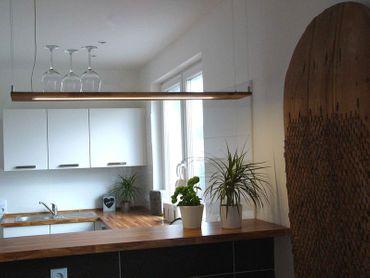 Hängelampe Holz Akazie, 120cm – Bild 4