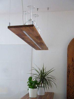 Hängelampe Holz Akazie, 120cm – Bild 1