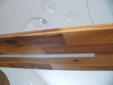 Hängelampe Holz Akazie, 80cm – Bild 4