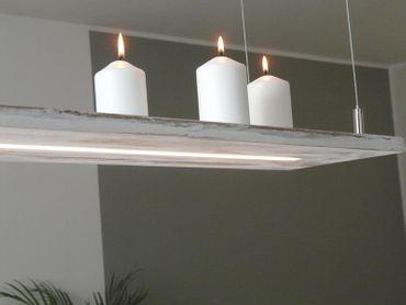 Shabby chic Holzlampe, 120cm – Bild 4