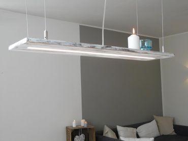 Shabby chic Holzlampe, 80cm – Bild 1