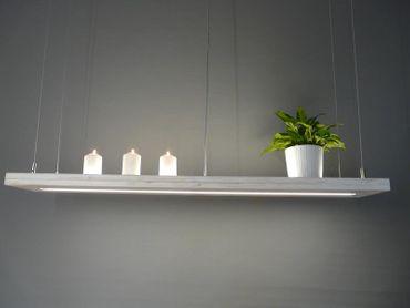 Hängelampe Holz Shabby Chic mit Ober-/Unterlicht, 120cm – Bild 2