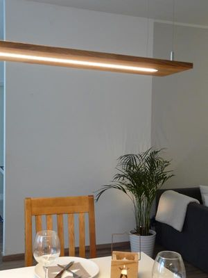 Hängeregal Lampe Eiche natur geölt, 160cm – Bild 4