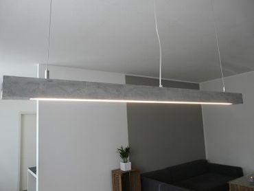 Hängelampe aus Beton Betonlampe 120 cm – Bild 1