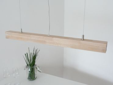 Hängelampe Holz Buche LEDs warmweiss, 80cm – Bild 4