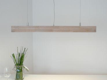 Hängelampe Holz Buche LEDs warmweiss, 80cm – Bild 2