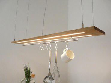 Hängelampe Eiche natur geölt Doppel LED Zeile, 120cm – Bild 2