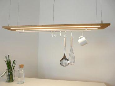 Hängelampe Eiche natur geölt Doppel LED Zeile, 120cm – Bild 1