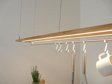 Hängelampe Eiche natur geölt Doppel LED Zeile, 120cm – Bild 3