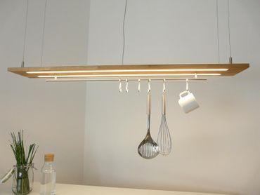 Hängelampe Eiche natur geölt Doppel LED Zeile, 120cm – Bild 4