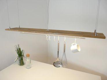 Hängelampe Eiche natur geölt Doppel LED Zeile, 120cm – Bild 5